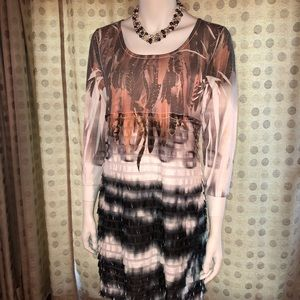 Cubism Bohemian style dress